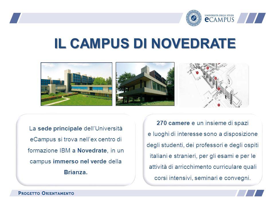 IL CAMPUS DI NOVEDRATE La sede principale dellUniversità eCampus si trova nellex centro di formazione IBM a Novedrate, in un campus immerso nel verde