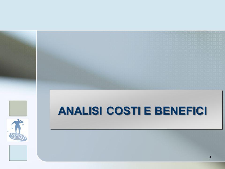 5 ANALISI COSTI E BENEFICI