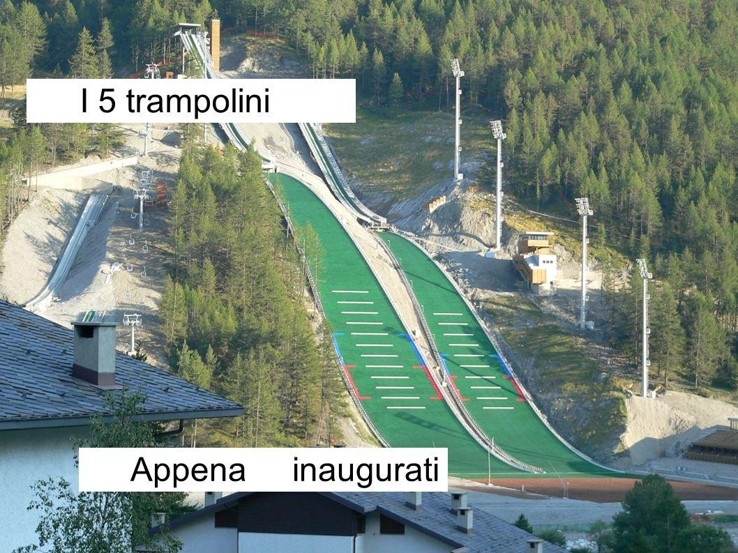 Appena inaugurati I 5 trampolini