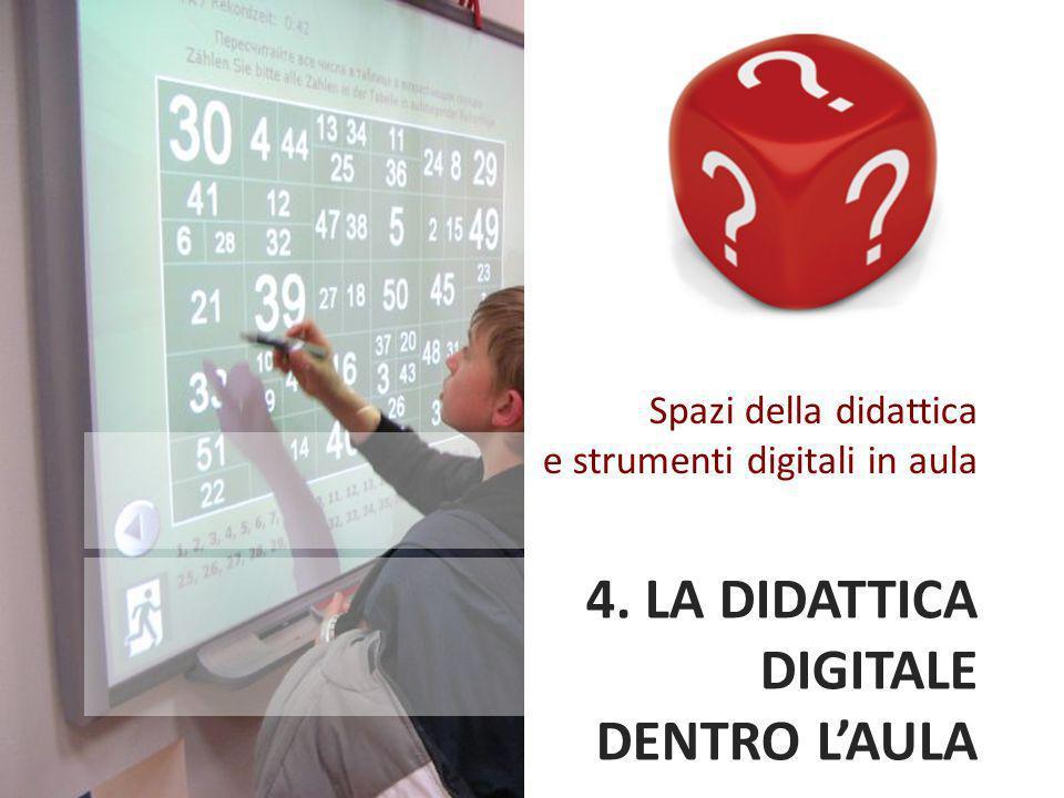 4. LA DIDATTICA DIGITALE DENTRO LAULA Spazi della didattica e strumenti digitali in aula
