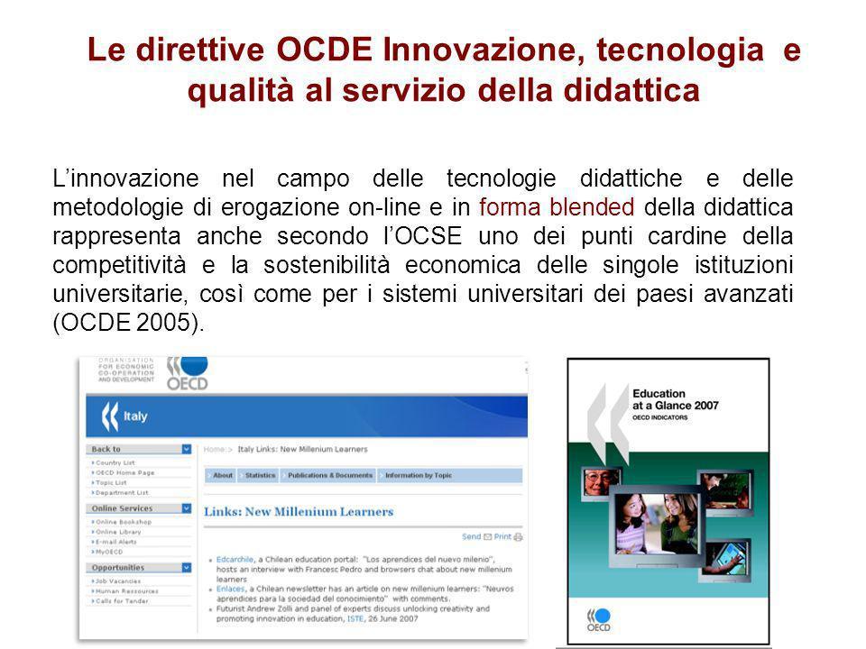 Linnovazione nel campo delle tecnologie didattiche e delle metodologie di erogazione on-line e in forma blended della didattica rappresenta anche seco