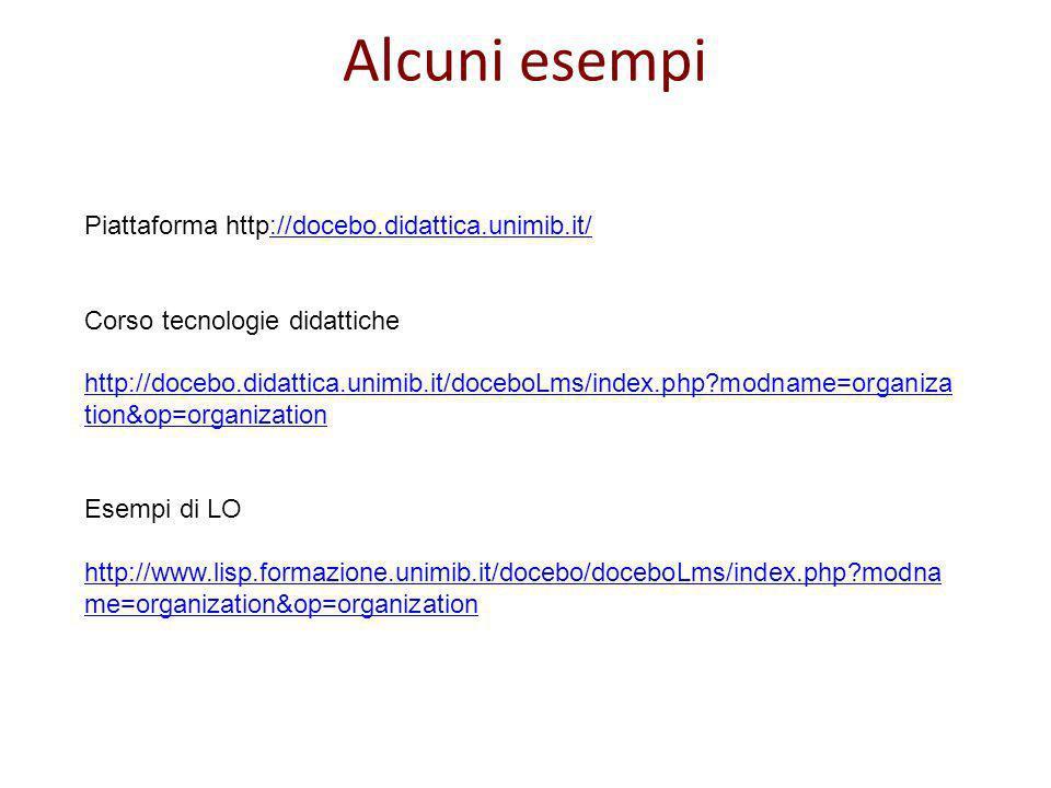 Piattaforma http://docebo.didattica.unimib.it/://docebo.didattica.unimib.it/ Corso tecnologie didattiche http://docebo.didattica.unimib.it/doceboLms/i