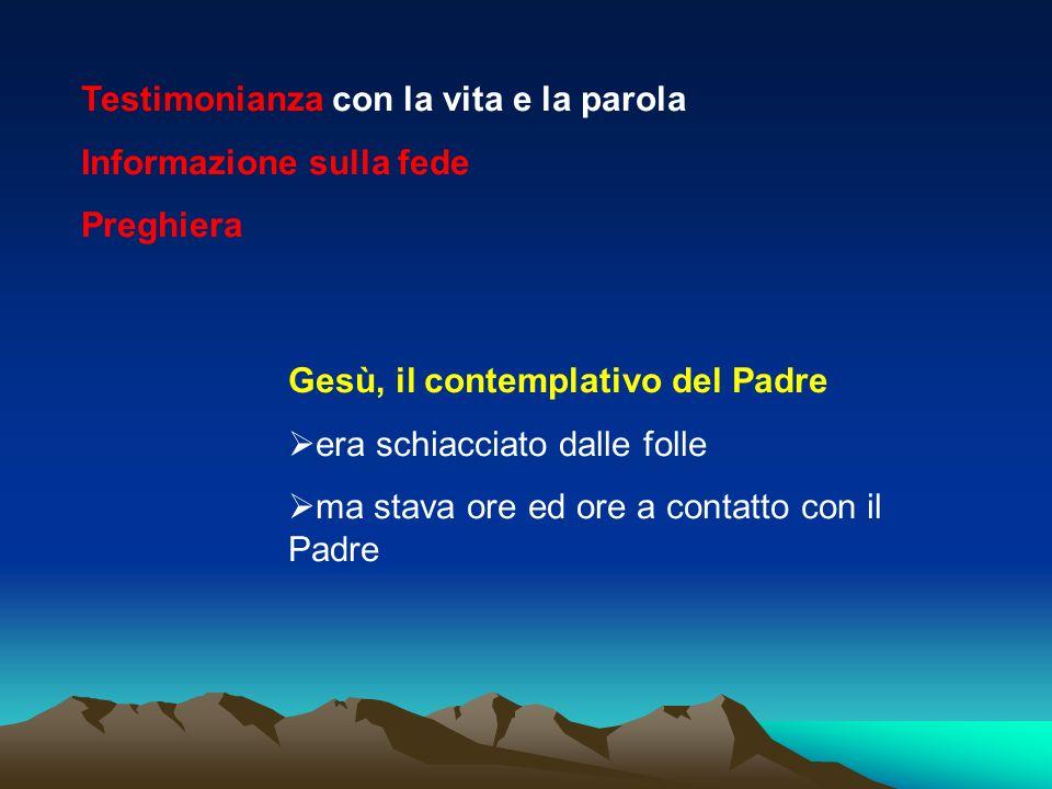 Parola di Dio Eucarestia contemplazione missione testimonianza Informazione sulla fede Umiltà e carità nella verità amore alla Chiesa comunicazione