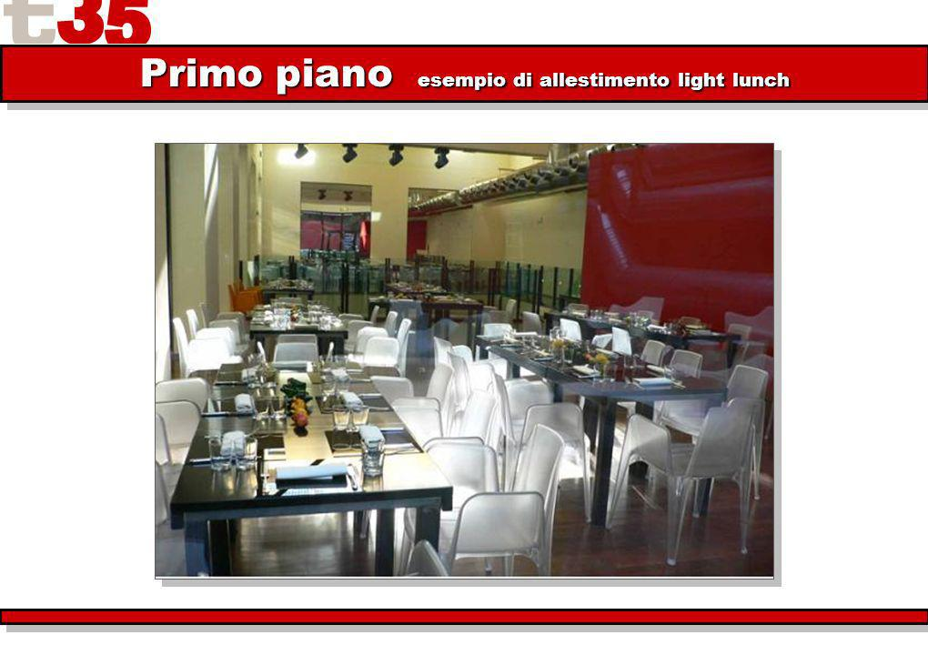 Primo piano esempio di allestimento light lunch