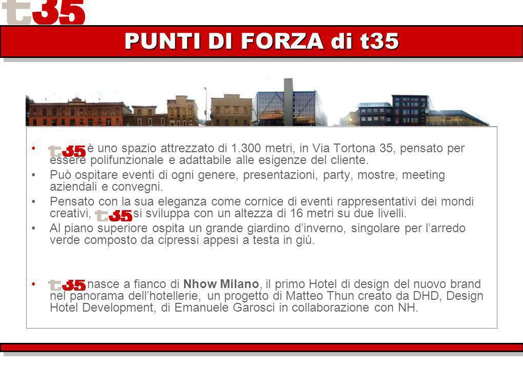 è uno spazio attrezzato di 1.300 metri, in Via Tortona 35, pensato per essere polifunzionale e adattabile alle esigenze del cliente.