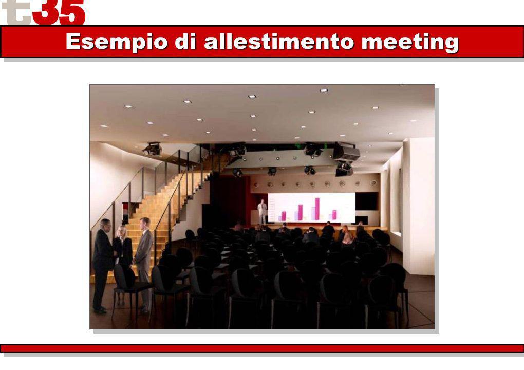 Esempio di allestimento meeting