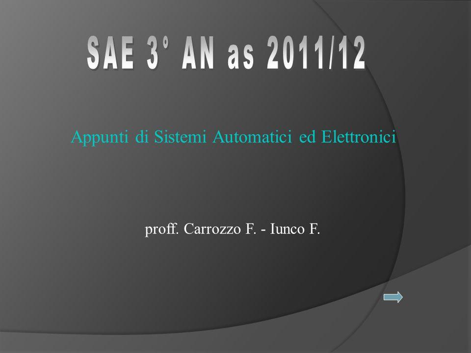 Appunti di Sistemi Automatici ed Elettronici proff. Carrozzo F. - Iunco F.
