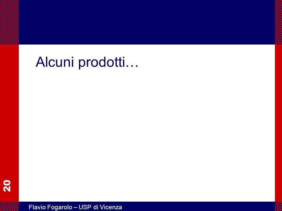 20 Flavio Fogarolo – USP di Vicenza Alcuni prodotti…