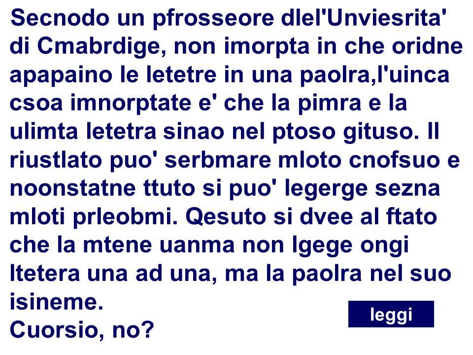 8 Flavio Fogarolo – USP di Vicenza Disortografia Secnodo un pfrosseore dlel'Unviesrita' di Cmabrdige, non imorpta in che oridne apapaino le letetre in