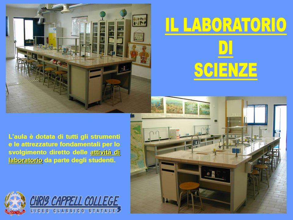 attività di laboratorio Laula è dotata di tutti gli strumenti e le attrezzature fondamentali per lo svolgimento diretto delle attività di laboratorio da parte degli studenti.
