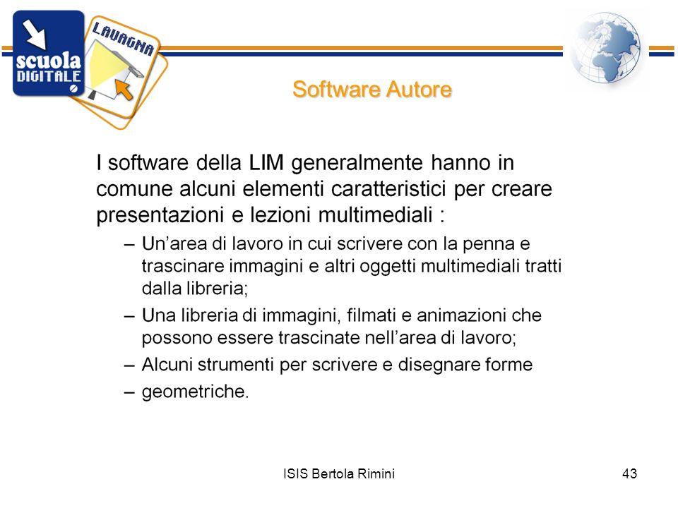 ISIS Bertola Rimini43 Software Autore