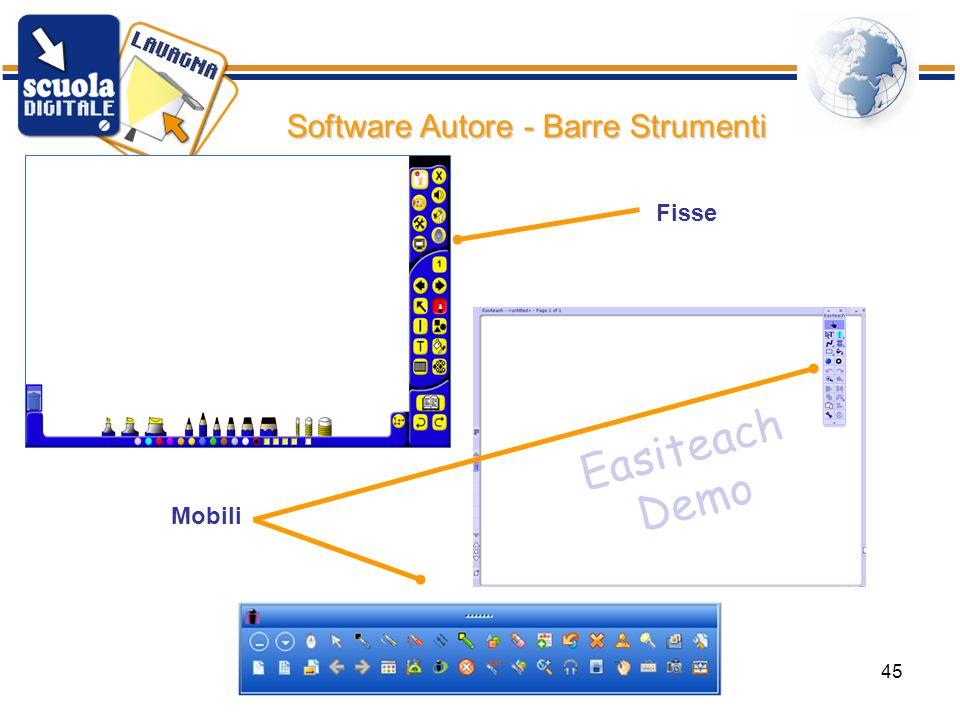 ISIS Bertola Rimini45 Software Autore - Barre Strumenti Mobili Fisse