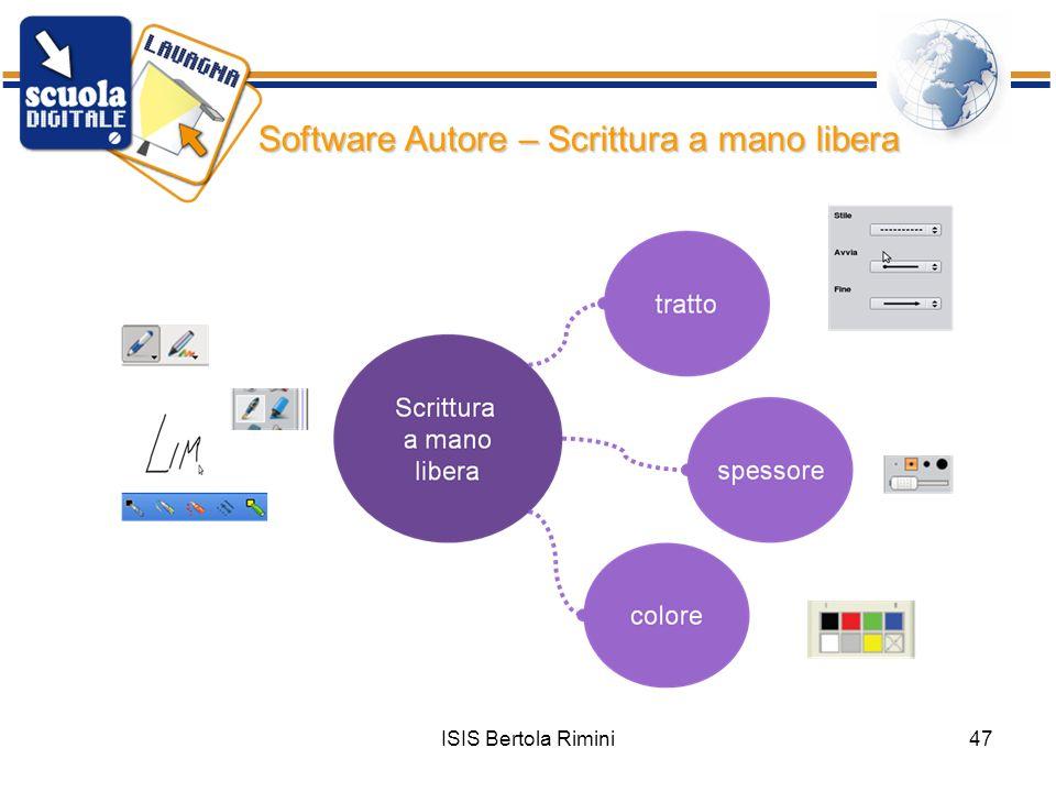 ISIS Bertola Rimini47 Software Autore – Scrittura a mano libera