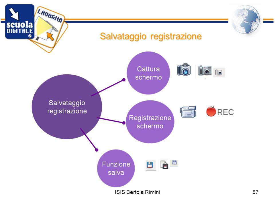 ISIS Bertola Rimini57 Salvataggio registrazione
