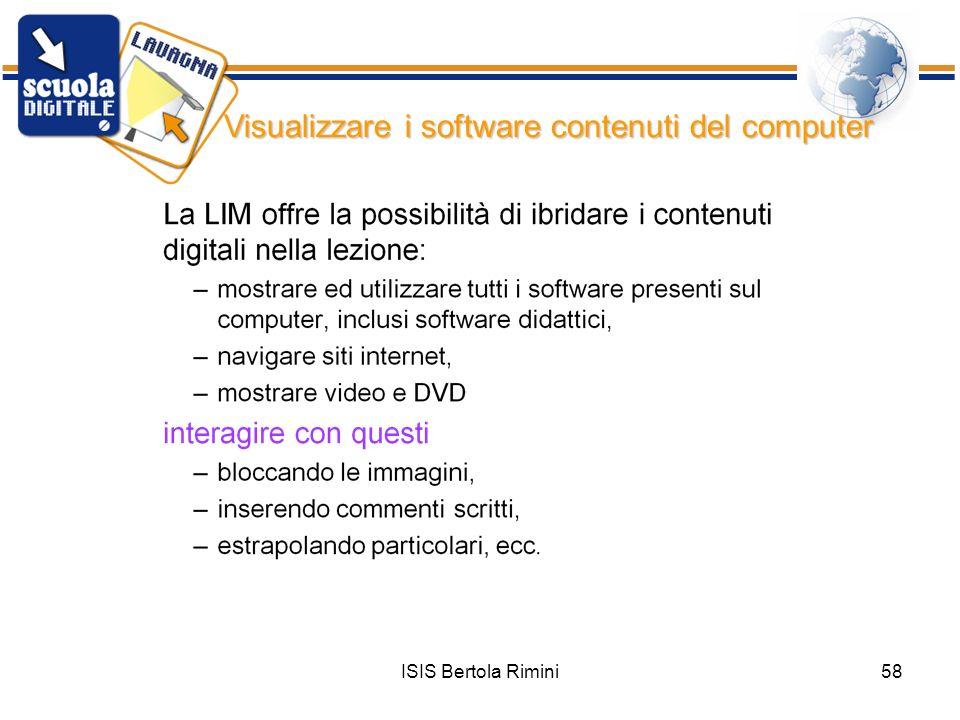 ISIS Bertola Rimini58 Visualizzare i software contenuti del computer