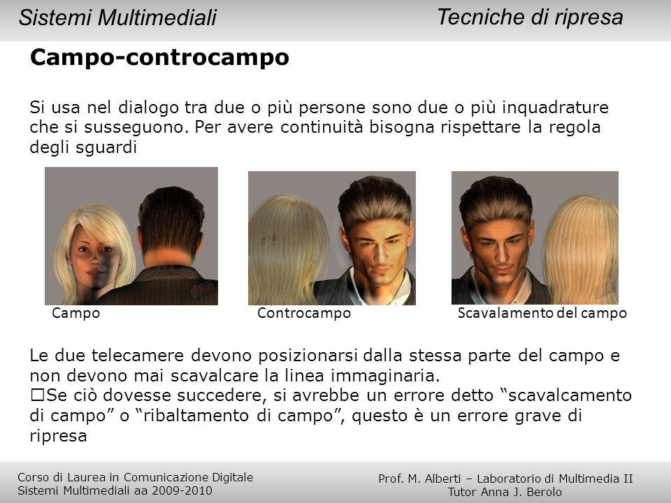 Tecniche di ripresa Campo-controcampo Si usa nel dialogo tra due o più persone sono due o più inquadrature che si susseguono. Per avere continuità bis