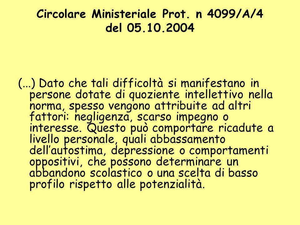 Circolare Ministeriale Prot.