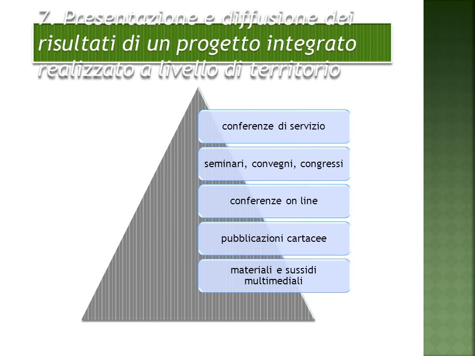 conferenze di servizioseminari, convegni, congressiconferenze on linepubblicazioni cartacee materiali e sussidi multimediali