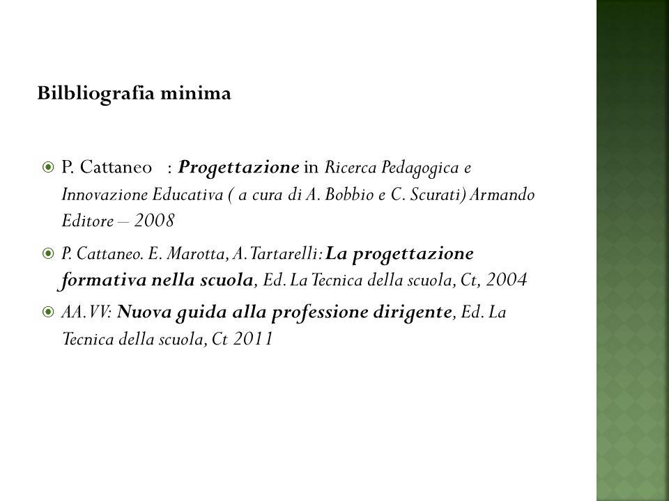 P. Cattaneo : Progettazione in Ricerca Pedagogica e Innovazione Educativa ( a cura di A.