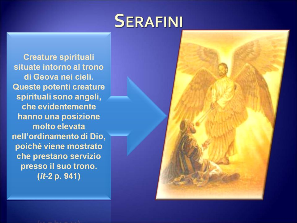 Cherubini Creatura angelica di grado elevato con mansioni speciali, diversa dallordine dei serafini.
