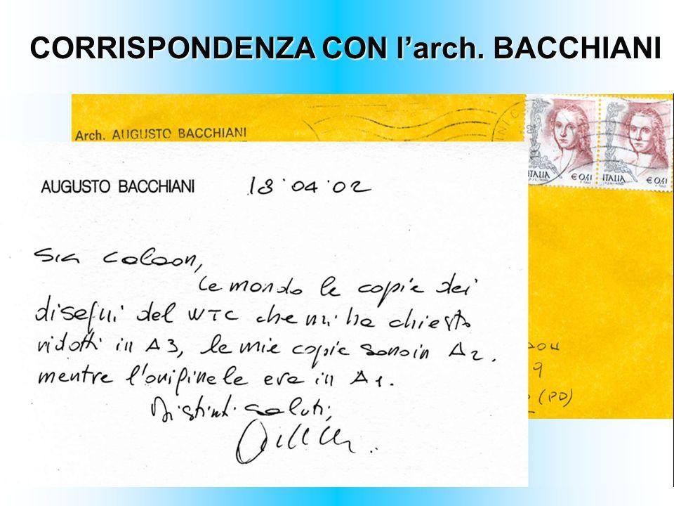 CORRISPONDENZA CON larch. BACCHIANI
