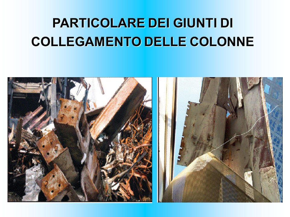 PARTICOLARE DEI GIUNTI DI COLLEGAMENTO DELLE COLONNE