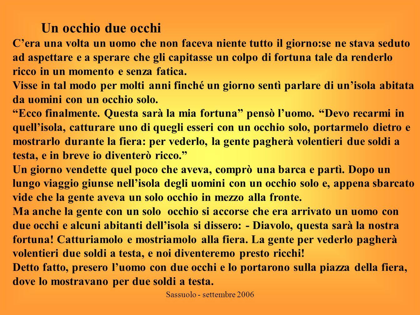 Sassuolo - settembre 2006 La scrittura