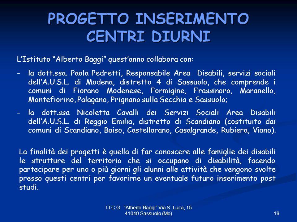 19 I.T.C.G. Alberto Baggi Via S.