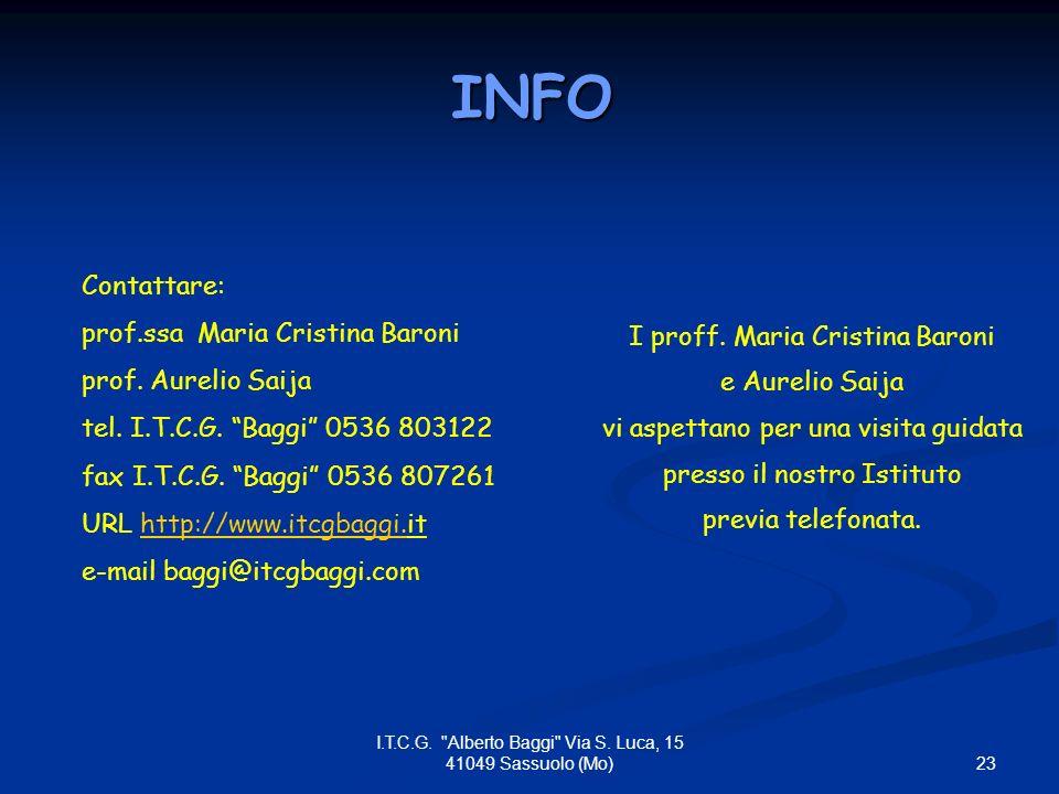23 I.T.C.G. Alberto Baggi Via S.