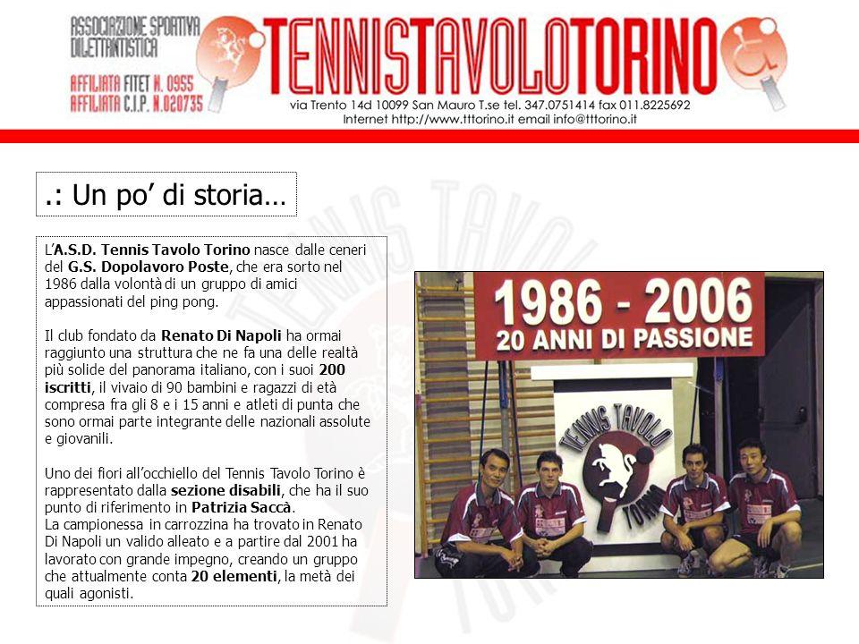 LA.S.D.Tennis Tavolo Torino nasce dalle ceneri del G.S.