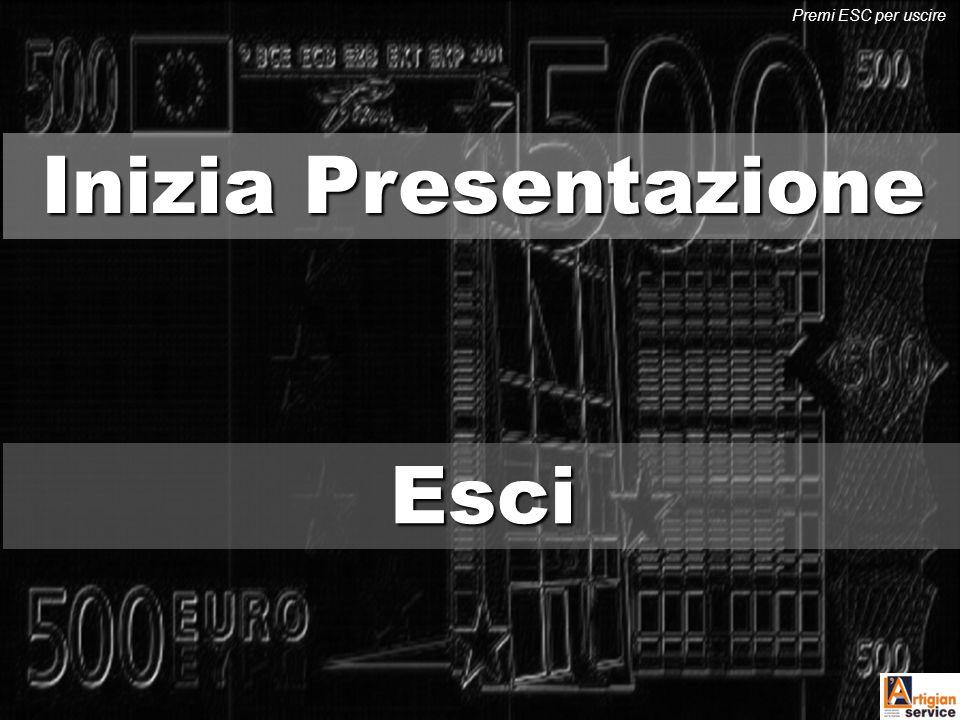Inizia Presentazione Inizia Presentazione EEEE ssss cccc iiii Premi ESC per uscire