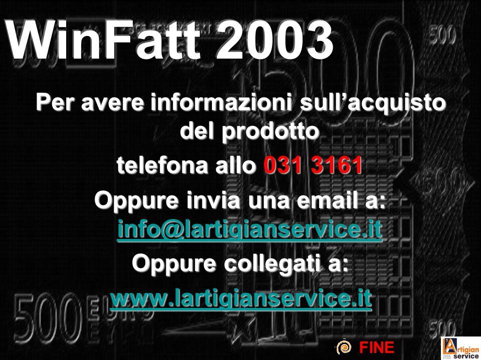 Per avere informazioni sullacquisto del prodotto telefona allo 031 3161 Oppure invia una email a: info@lartigianservice.it info@lartigianservice.it Oppure collegati a: www.lartigianservice.it FINE