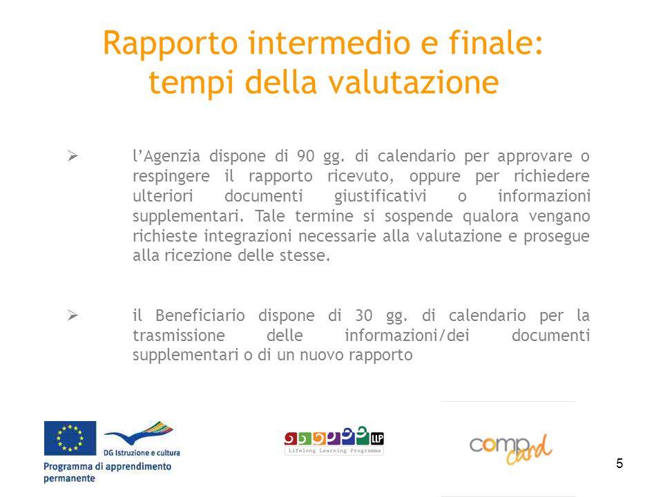 5 Rapporto intermedio e finale: tempi della valutazione lAgenzia dispone di 90 gg.