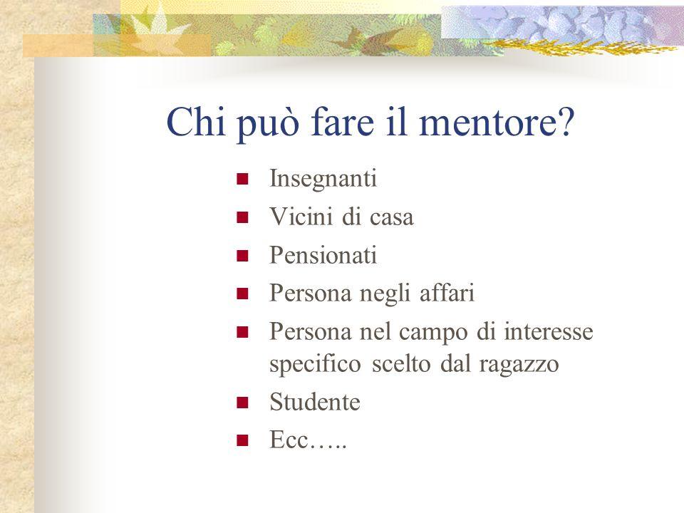 Chi può fare il mentore.