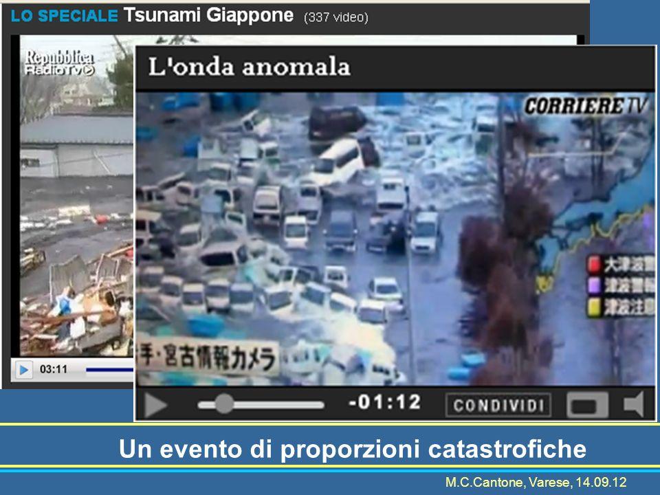 Un evento di proporzioni catastrofiche M.C.Cantone, Varese, 14.09.12