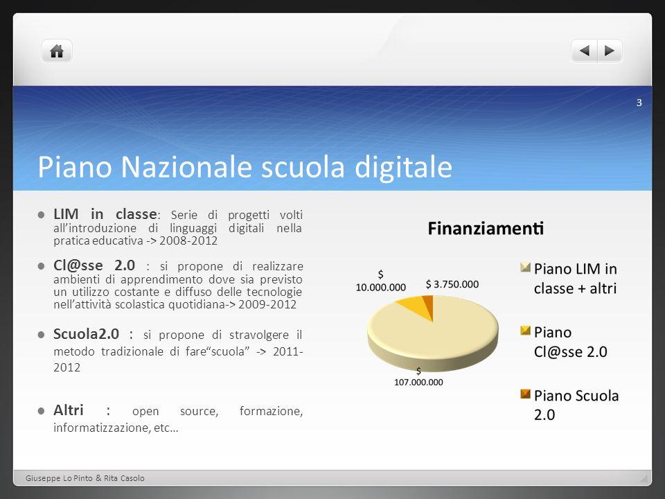 Piano Nazionale scuola digitale Cl@sse 2.0 : si propone di realizzare ambienti di apprendimento dove sia previsto un utilizzo costante e diffuso delle