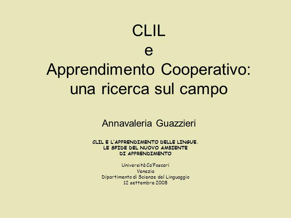 Domande I docenti CLIL conoscono lAC.