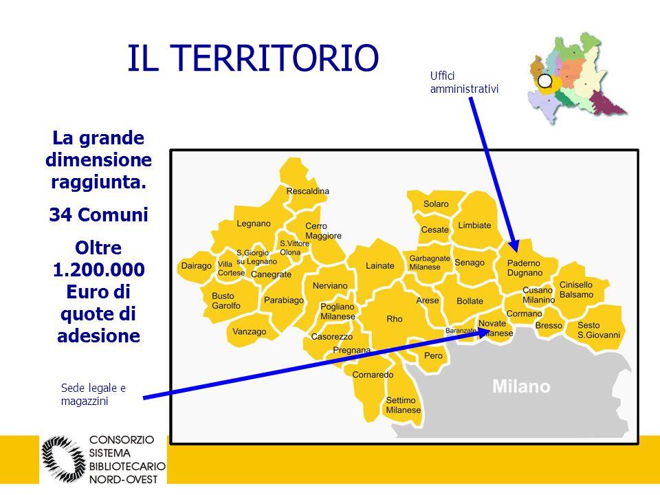 2 IL TERRITORIO Uffici amministrativi Sede legale e magazzini La grande dimensione raggiunta.
