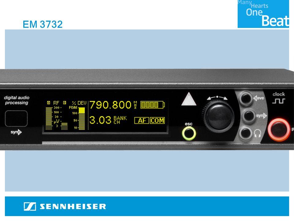 Capacità Multicanale Supervisione e controllo remoto totale tramite software WSM Forte connessione RF, grazie: Elevata sicurezza contro intermodulazione e blocking Booster con guadagno variabile ad elevata sicurezza contro intermodulazione Flessibilità 90MHz di larghezza di banda Antenne a larga banda 9 varianti a copertura dellintero range UHF Scansione dei parametri di Preset e scansione continua (WSM)