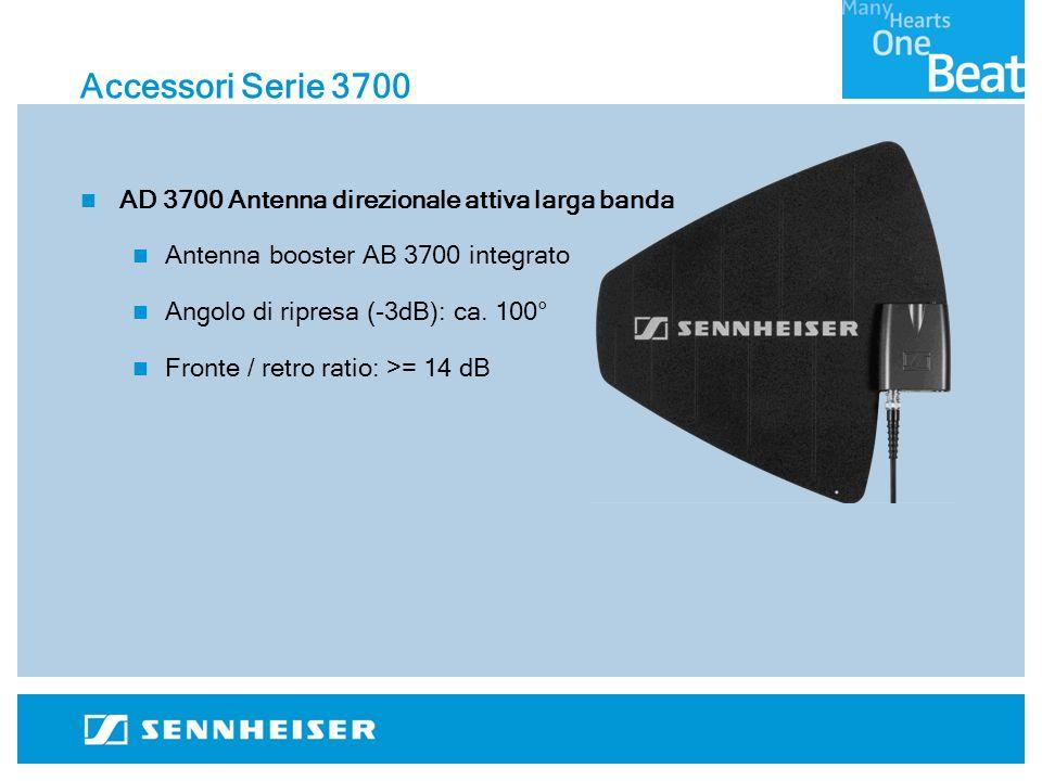 Accessori Serie 3700 AD 3700 Antenna direzionale attiva larga banda Antenna booster AB 3700 integrato Angolo di ripresa (-3dB): ca.