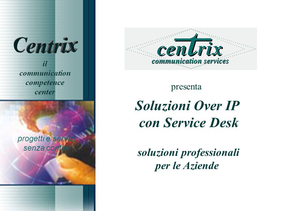 presenta Soluzioni Over IP con Service Desk soluzioni professionali per le Aziende progetti e servizi senza confini il communication competence center