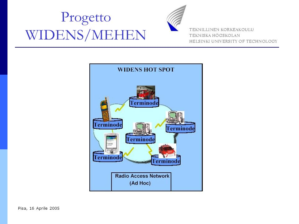 Progetto WIDENS/MEHEN Pisa, 16 Aprile 2005