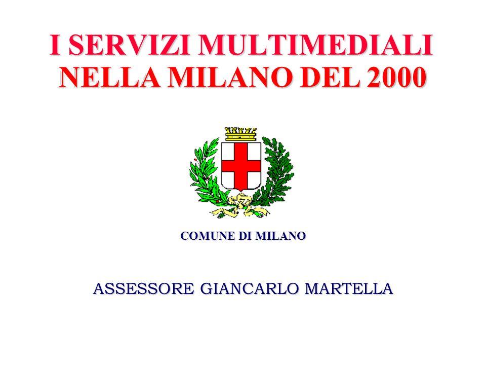 I SERVIZI MULTIMEDIALI NELLA MILANO DEL 2000 COMUNE DI MILANO ASSESSORE GIANCARLO MARTELLA NELLA MILANO DEL 2000