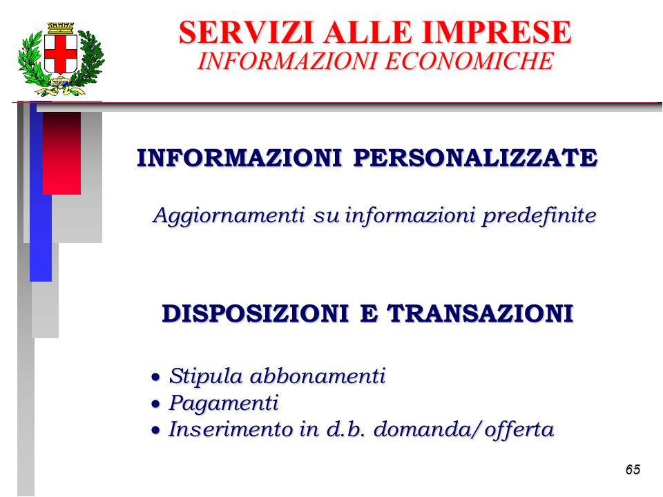 65 Stipula abbonamenti Stipula abbonamenti Pagamenti Pagamenti Inserimento in d.b.