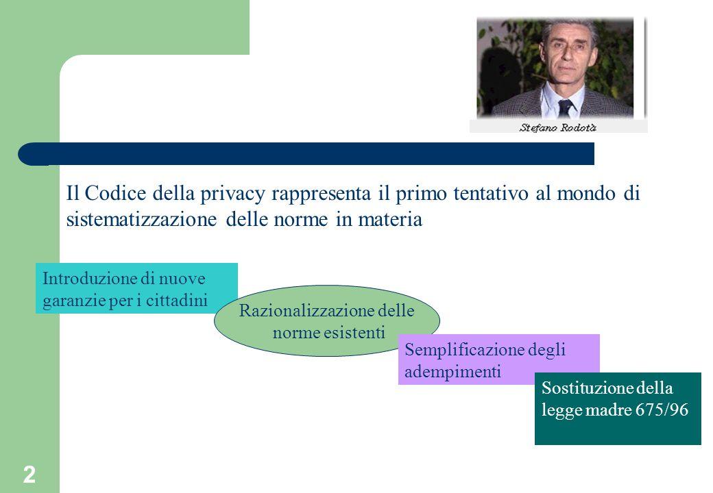 13 Protezione dei dati personali non consiste nella copertura ma nella loro difesa