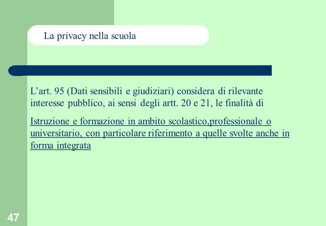 47 La privacy nella scuola Lart.