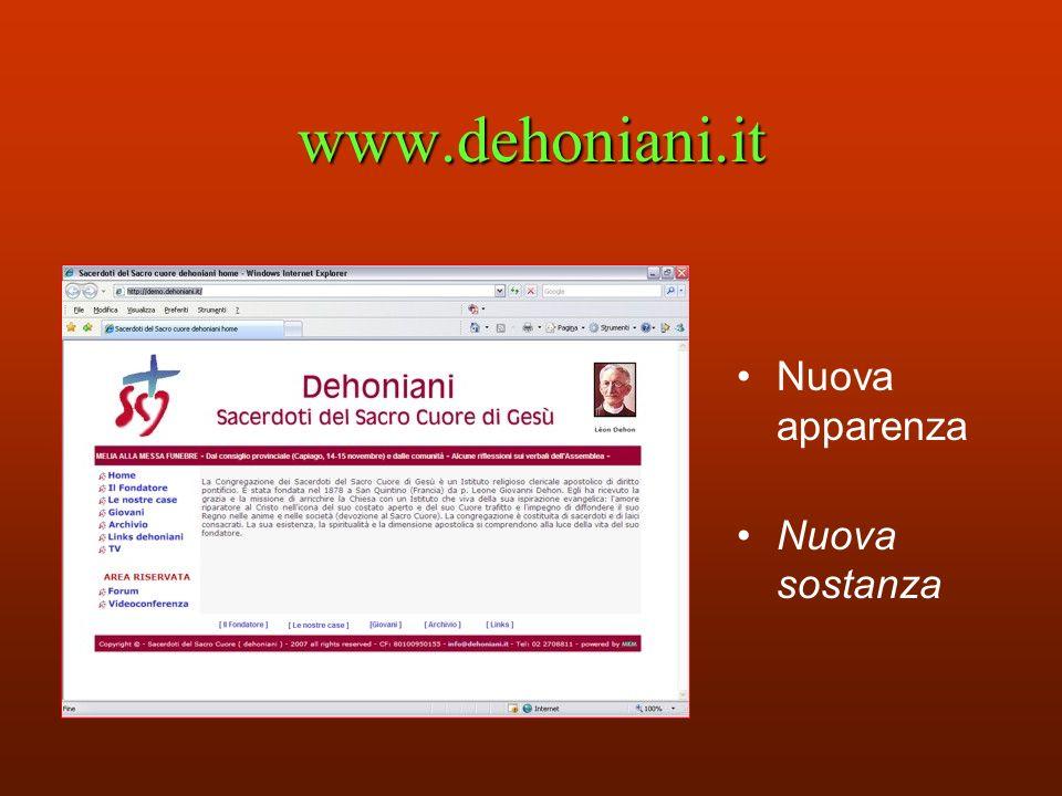 www.dehoniani.it Nuova apparenza Nuova sostanza