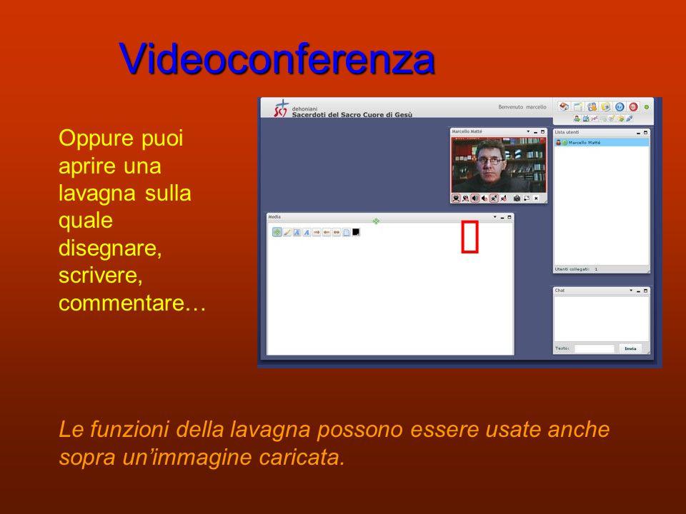 Videoconferenza Puoi caricare un documento (immagine, filmato, presentazione PowerPoint…)