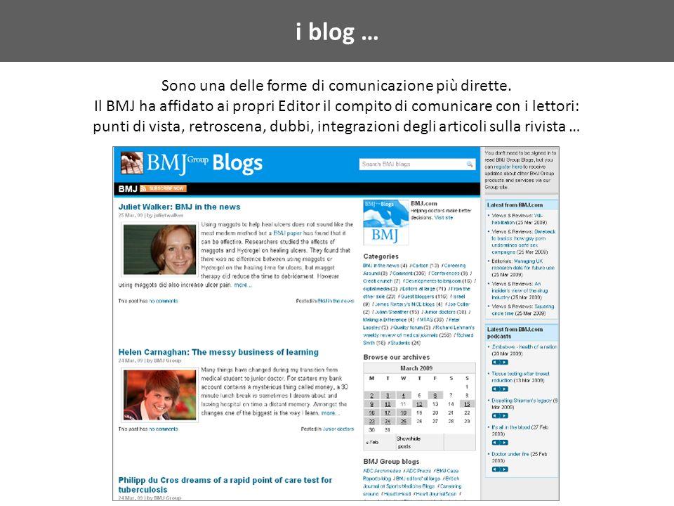 i blog … Sono una delle forme di comunicazione più dirette.