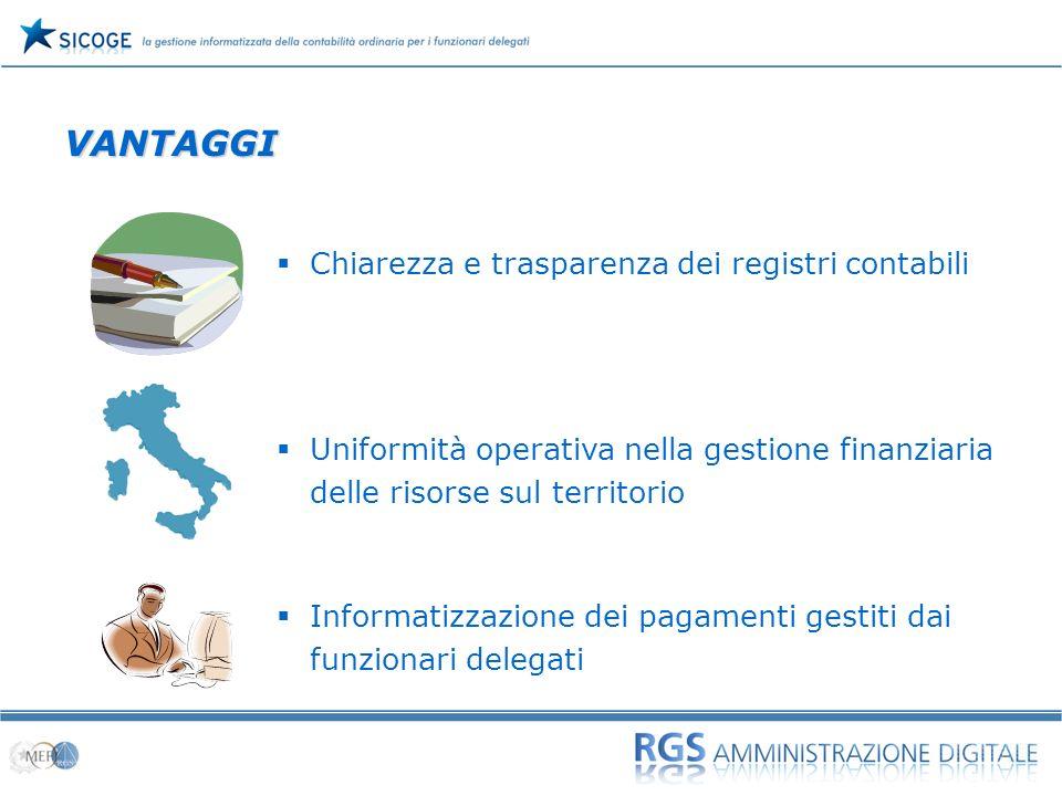 07 VANTAGGI Chiarezza e trasparenza dei registri contabili Uniformità operativa nella gestione finanziaria delle risorse sul territorio Informatizzazi